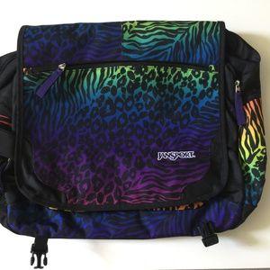 JanSport Elefunk TNX0 Messenger Bag Laptop Animal